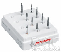 Set of burs Geneva Prep Set Ref № 055 (Intensiv), set to handle the stump under the removable denture, 9 pcs. - $ 18.22