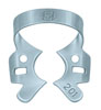 Clamp for the rubber dam (KSK), № 201, Clamp for lower molars with wings, wide edge, analog number 200 but with curved beaks - $ 2.53