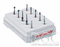 Set of burs Ceramic Finishing Set CFS Ref № 012 (Intensiv), set for finishing ceramics in the mouth, hog 8 + 2 file holder - $ 32.01