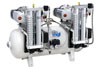 Dental oil-free compressor 100/30 SCE Tandem Prime with a desiccant (MGF Compressors), 6 units, capacity 400 l / min at 5 bar, 100 l receiver, noise level of 75 dB, power 2x1, 5 kW - $ 5066.84