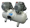 Dental oil-free compressor 100/50 S Tandem Prime (MGF Compressors), 8 units, the performance of 500 l / min at 5 bar, 100 l receiver, noise level of 75 dB, power 2x2 kW - $ 3565.10