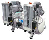 Dental oil-free compressor 100/50 SCE Tandem Prime with a desiccant (MGF Compressors), 8 units, the performance of 500 l / min at 5 bar, 100 l receiver, noise level of 75 dB, power 2x2 kW - $ 5750.56