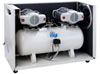 Compressor oil-free dental CS 100/30 S Tandem Prime with acoustic cabinet (MGF Compressors), 6 units, capacity 400 l / min at 5 bar, 100 l receiver, noise level 68 dB, power 2x1, 5 kW - $ 4358.70